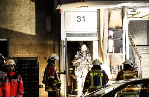 Die Geislinger Feuerwehr war mit sieben Fahrzeugen und 45 Mann im Einsatz. Foto: 7aktuell.de/Christina Zambito