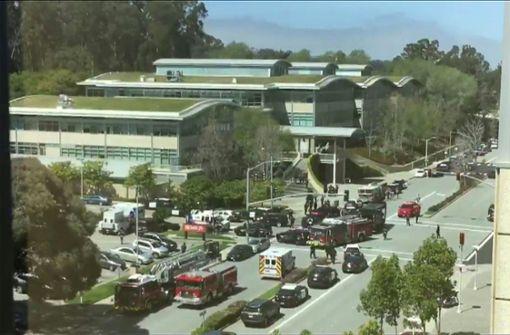Wegen Schüssen ist es an Youtube-Zentrale am Dienstag zu einem Großeinsatz von Rettungskräften gekommen. Foto: Hand-Out