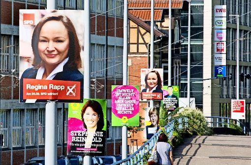 Wahlplakate – erlaubt ist eine begrenzte Zahl