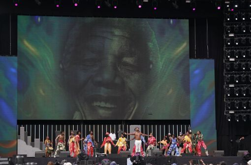 Ed Sheeran und Pharrell Williams feiern Nelson Mandela