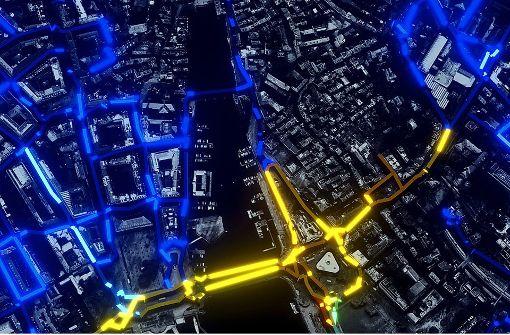So sehen die Straßen von Zürich im Computermodel Varcity aus. Foto: Computer Vision Lab ETH Zürich