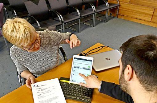 Tablet und App statt  Block  und Stift