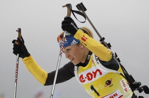Magdalena Neuner holt WM-Silber