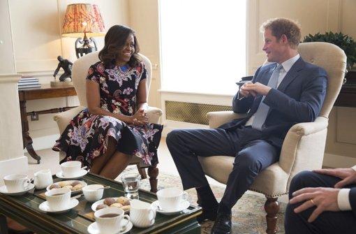 First Lady zum Tee bei Prinz Harry