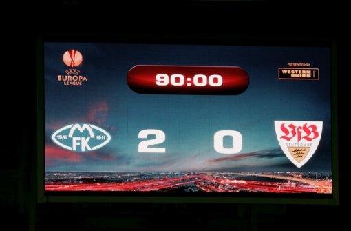 ... mit einem 0:2 ihre einzige Niederlage in dieser Europa-League-Saison.br Foto: Pressefoto Baumann
