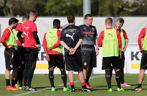 Drohneneinsatz beim VfB-Training