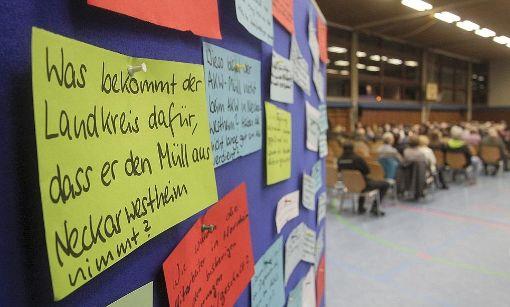 Proteste gegen die geplante Lagerung von schwach radioaktivem Bauschutt des Atomkraftwerks Neckarwestheim in Schwieberdingen. Foto: factum/Bach