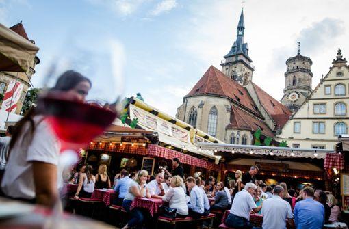 Das Weindorf hat begonnen