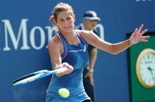 Für Julia Görges sind die US Open bereits in der zweiten Runde gelaufen. Foto: AFP