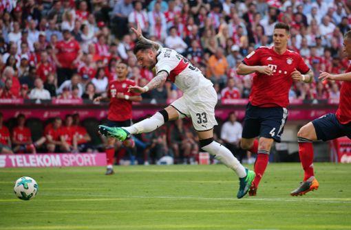 Diesen Einsatz sah man von Ginczek, mittlerweile beim VfL Wolfsburg, an diesem Tag öfter.  Foto: Pressefoto Baumann