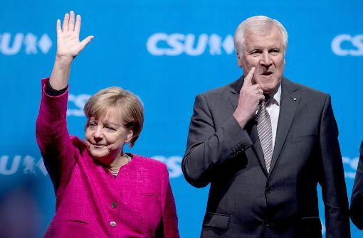 Merkel und Seehofer suchen die Union