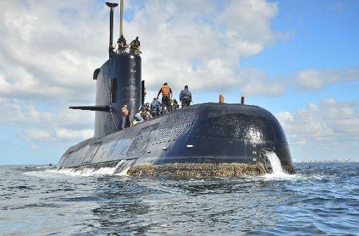 Das U-Boot ARA San Juan vor der Küste Argentiniens Foto: dpa/Argentinische Marine