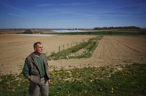 Wolfgang Klotz  hat auf seinen Äckern alle paar Meter Wildobsthecken angelegt – als Refugien  für Wildtiere und -pflanzen Foto: Gottfried Stoppel