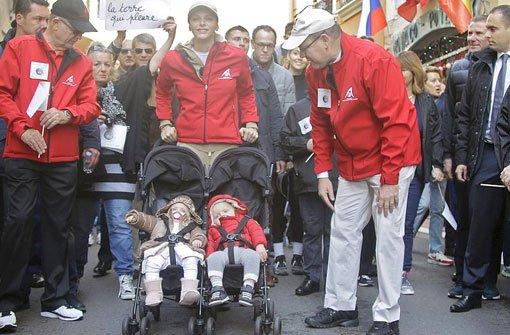 Doppeltes Baby-Glück: bGabriella und Jacques/b heißen die Zwillinge von Fürst Albert von Monaco und seiner Frau Charlène. Foto: AP