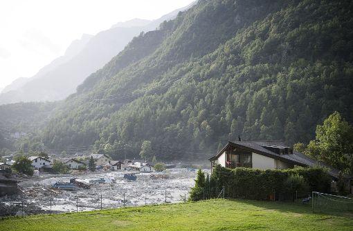Erneuter Bergsturz in der Schweiz - Gebäude zerstört