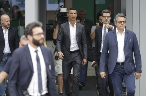 Der Portugiese war viel früher als erwartet in Turin gelandet. Foto: AP