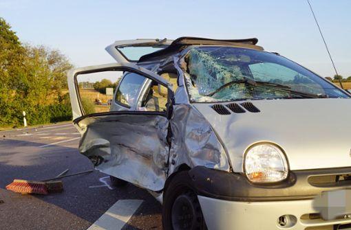 77-Jährige übersieht Motorrad – Vier Schwerverletzte