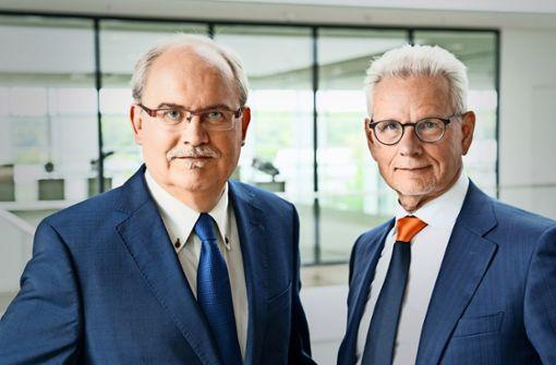 Thomas Bayer (l) und Manfred Wittenstein haben ein Getriebe entwickelt, ... Foto: Ansgar Pudenz