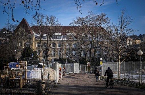 Das Gymnasium Königin-Katharina-Stift am Schlossgarten hatte ungebetene Besucher. Foto: Lichtgut/Max Kovalenko