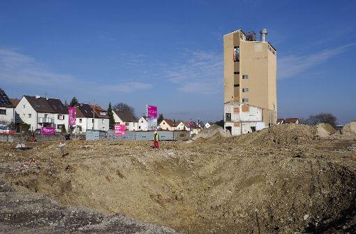 Noch steht der Siloturm am Baywa-Areal. Foto: factum/Weise