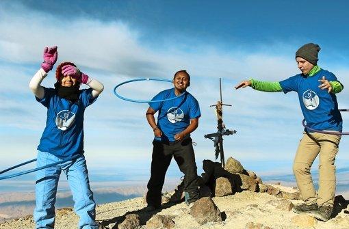 """""""Hula-Hoop auf 6057 Meter Höhe"""""""