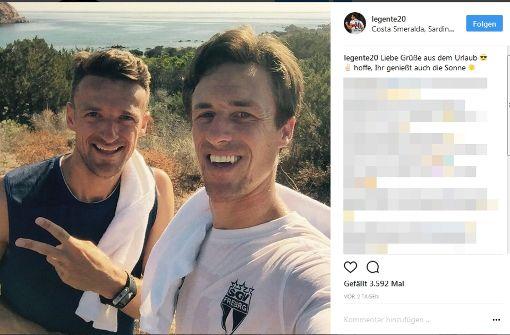 Kapitän Christian Gentner schickt Urlaubsgrüße aus Sardinien. Foto:  instagram.com/legente20/