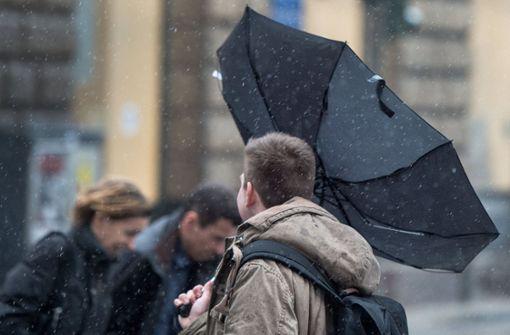 Sturm in Stuttgart erwartet