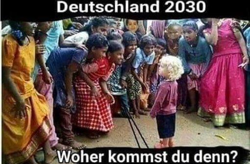 Dieses Bild postete die CDU-Politikerin Erika Steinbach auf Twitter – und sorgte damit für helle Aufregung in der politischen Szene. Foto: Twitter