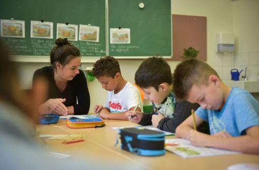 Die Grundschüler der Elise-von-König-Schule ihr Schulhaus zum Lernen. Foto: Lichtgut/Max Kovalenko