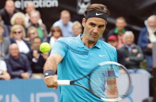 Roger Federer hat beim Mercedes-Cup in Stuttgart die nächste Runde erreicht. Foto: Pressefoto Baumann