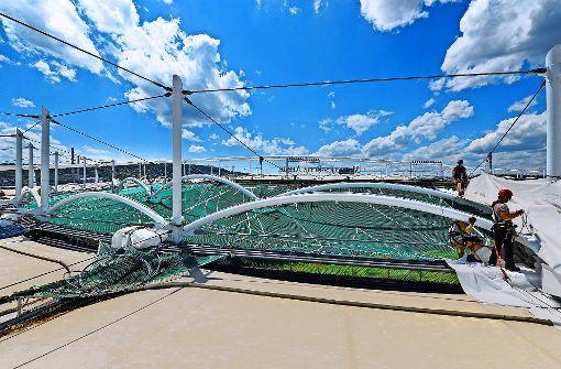 Stadion für Renovierung gut gerüstet
