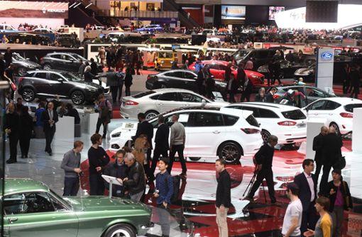 Weniger Besucher auf dem Genfer Autosalon