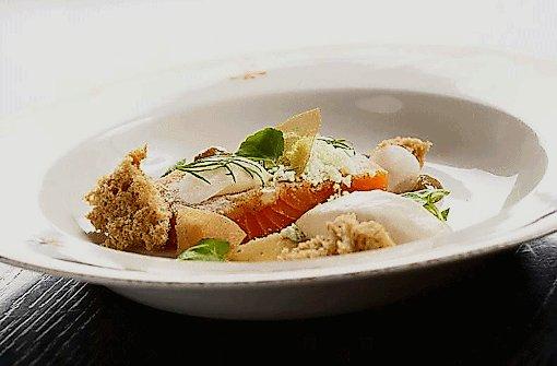 Lachs auf isländische Art in der Fish Company.  Foto: Restaurant