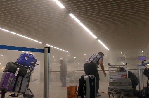 Im Flughafen Brüssel sind am Dienstagmorgen zwei Sprengsätze explodiert. Foto: dpa