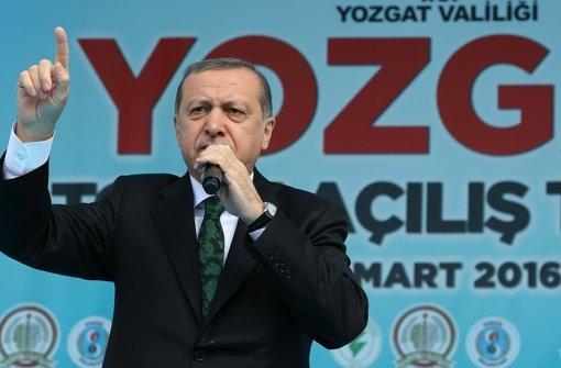 """Der türkische Präsident Recep Tayyip Erdogan findet den Satire-Song der Sendung """"extra 3"""" auf seine Person überhaupt nicht lustig. Foto: AP"""