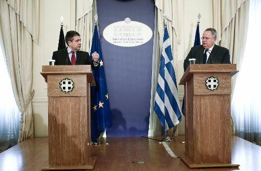 Gabriel sichert Griechenland Unterstützung zu