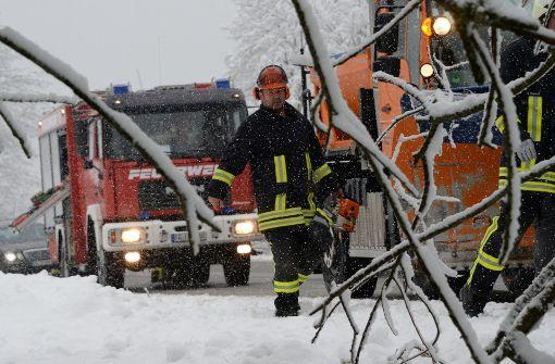Schnee behindert auch in Stuttgart den Bahnverkehr