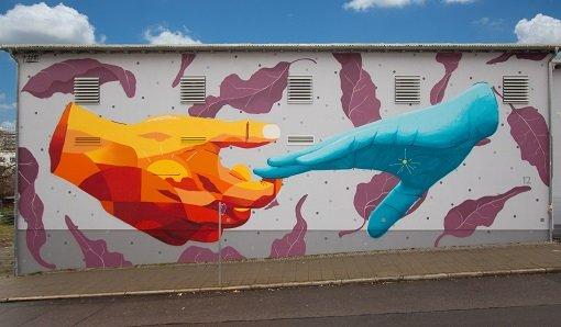 Ein Graffiti zum Zeichen der Hoffnung