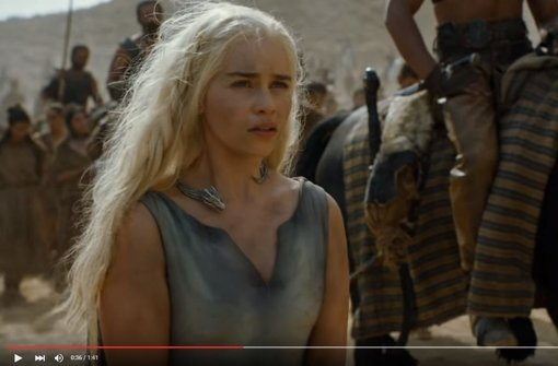 Daenerys Targaryen taucht im neuen Trailer auf - allerdings nicht als Königin. Foto: Screenshot Youtube / Game of Thrones