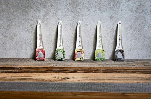 Löffel mit integriertem Teebeutel soll Müll sparen