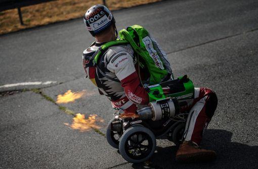 Extremsportler will Rekord mit Bobby-Car aufstellen