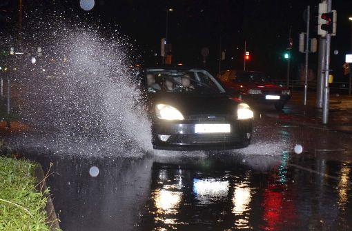 Gewitter und Starkregen über dem Südwesten