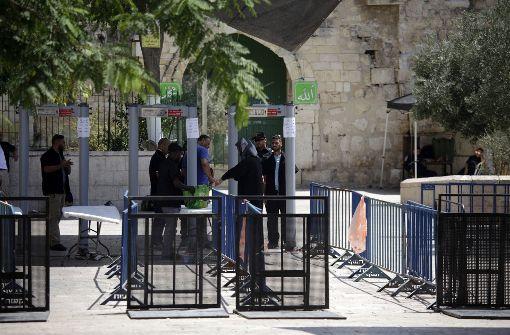 Israel beschränkt Zutritt zum Tempelberg