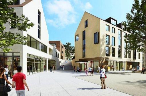 ...in der Ortsmitte Botnang im Modell: In die Neubauten dort investiert die SWSG insgesamt  rund 38 Millionen Euro. Foto: SWSG