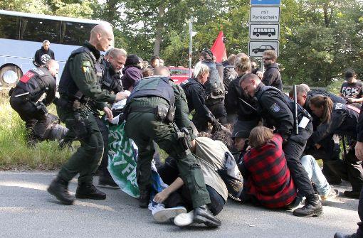 Proteste bei Treffen des rechtsnationalen AfD-Flügels