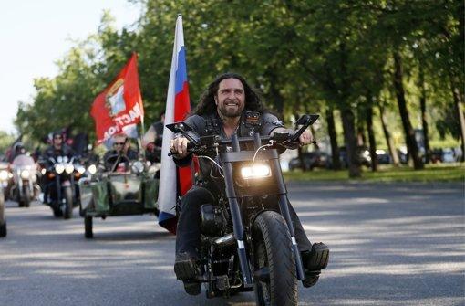 Russische Biker erreichen Deutschland