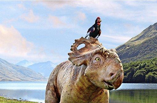Patchi und sein Freund Alex (oben) in Dinosaurier – Im Reich der Giganten. Foto: Constantin