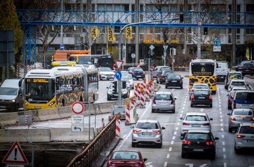 Kabinett einigt sich auf Busspur am Neckartor