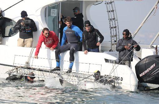 Rennen von Phelps gegen Hai nur simuliert