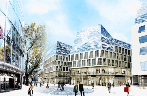 Mit den Neubauten wird die Sporerstraße begradigt. Foto: Behnisch Architekten